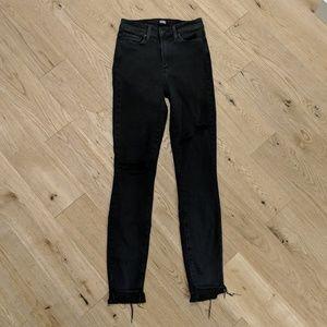 Paige Jeans 24 Grey Black Distressed